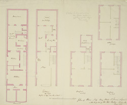 Plan of house no. 9 King Street, St James's Square with occupation of Mr. Tho. Miller